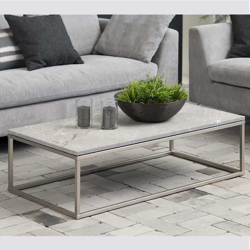 bran coffee table 02 - Xinaris Bran Coffee Table - Brushed Nickel Coffee  Table IDI Design - Brushed Nickel Coffee Table IDI Design