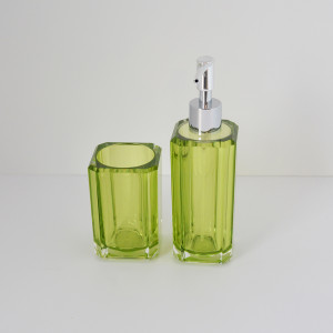 acrillico soap dispenser and toothbrush holder