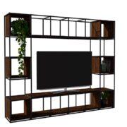 IRON BOOKCASE 200X240 TV UNIT