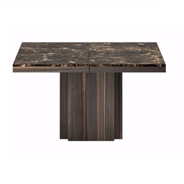 Dusk dining table brown marble