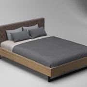 Bed2FabricBrownWood8500
